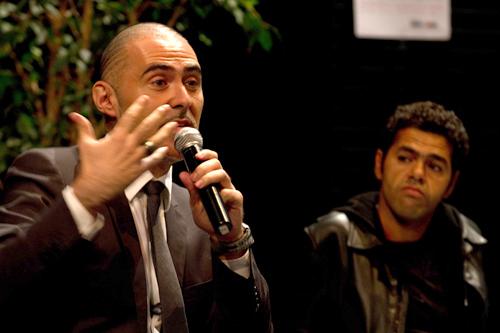 Avec Djamel Debbouze lors du lancement de l'opération AC le Feu le 9 novembre 2011